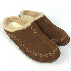 Sorel FALCON RIDGE Suede Slippers 9/42.5 Leather